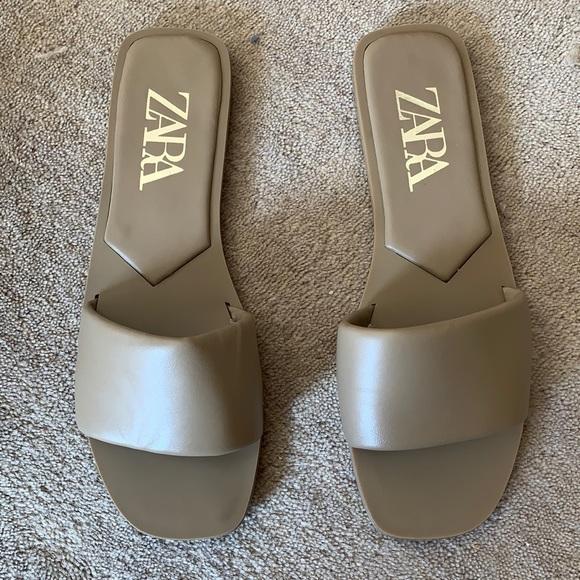 Zara Slide Sandals 38